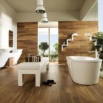 Carrelage imitation bois salle de bain