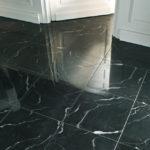 Carrelage marbre noir