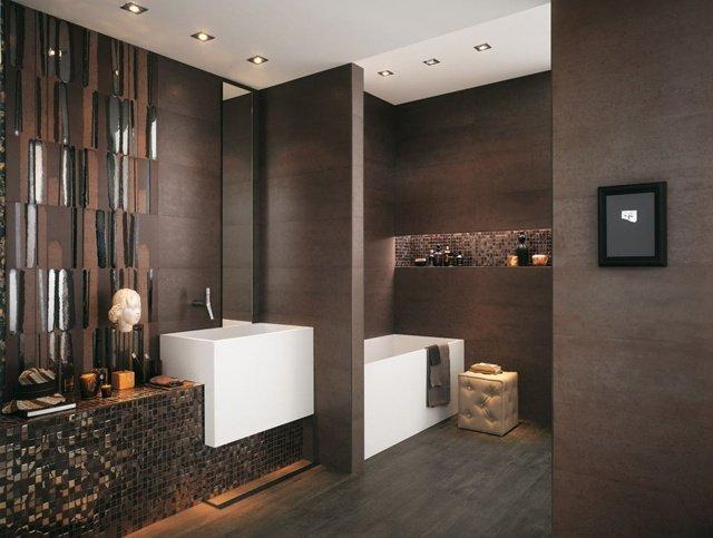 carrelage marron salle de bain - Salle De Bain Marron
