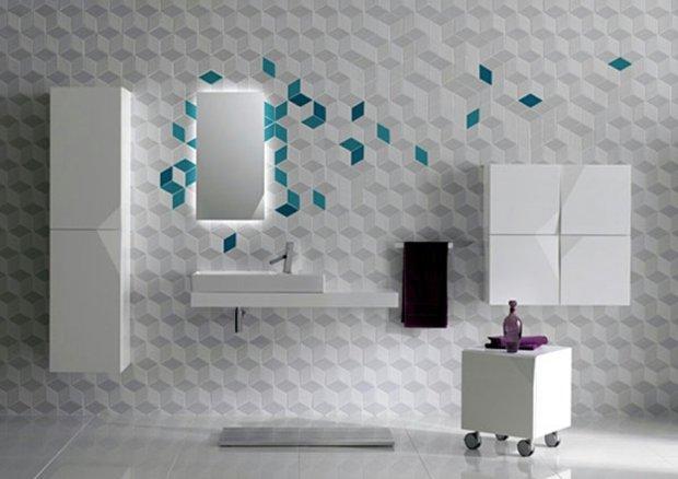 carrelage mural salle de bain design
