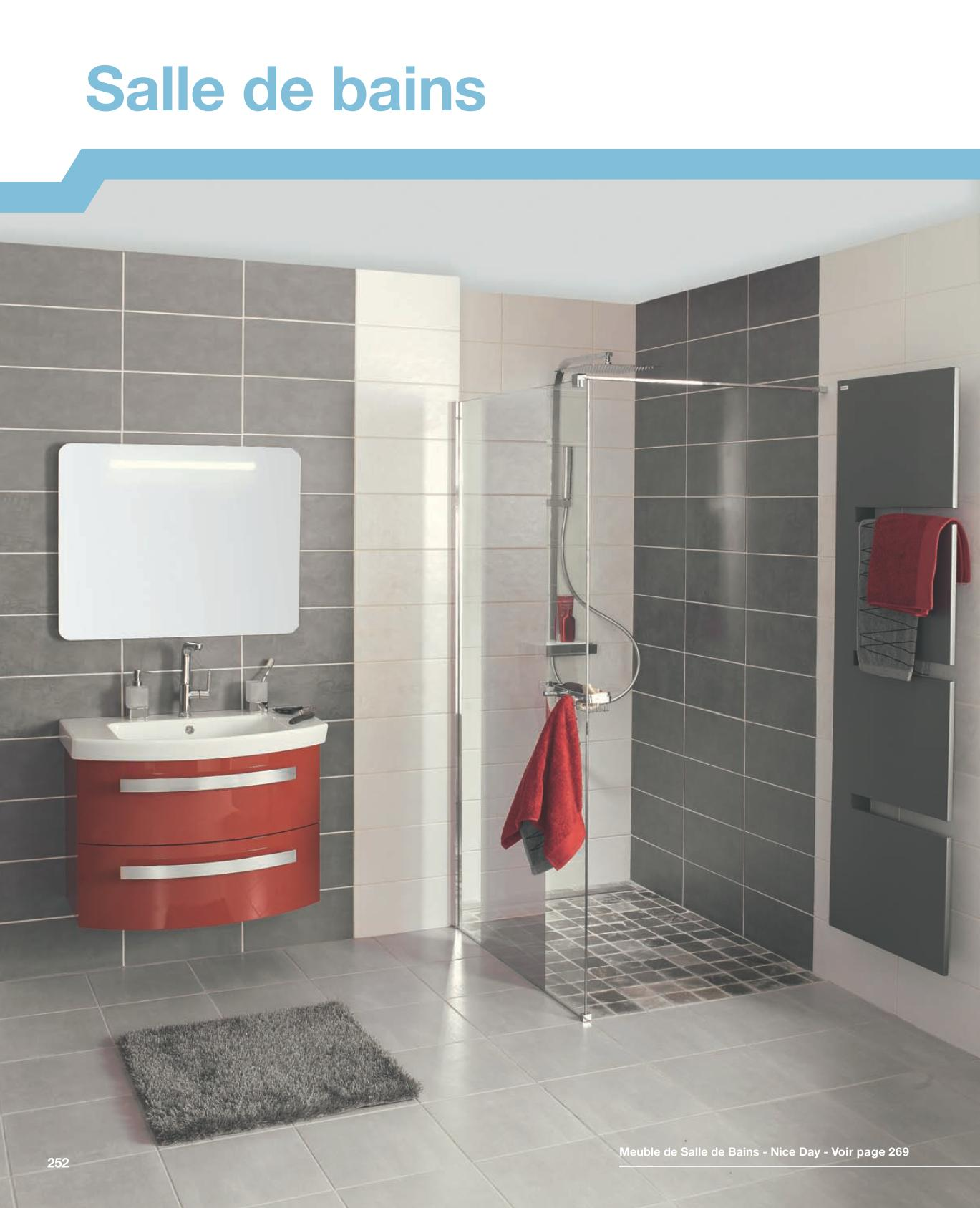 Idee carrelage salle de bain castorama for Catalogue de meuble