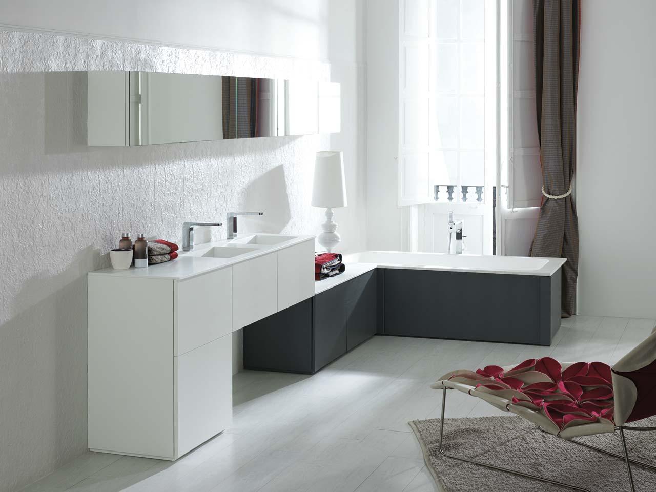 Beton cire salle de bain leroy merlin - Idee carrelage salle de bain moderne ...