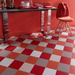 Carrelage rouge sol