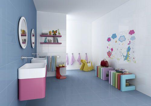 carrelage salle de bain enfant