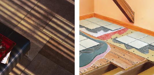 carrelage sur plancher bois