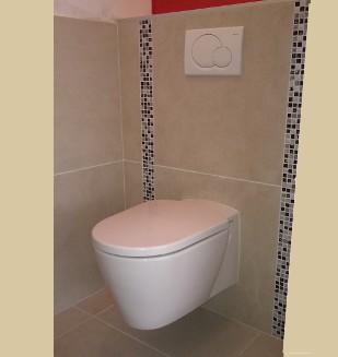 Carrelage toilette mural