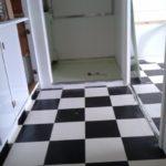 Lino damier noir et blanc