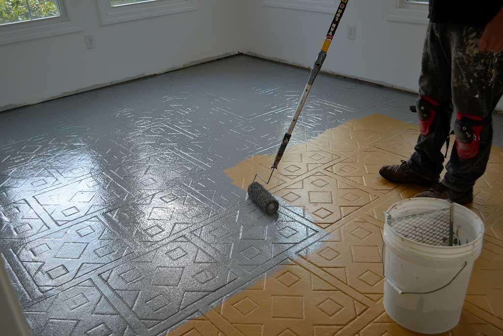 peindre un carrelage de sol