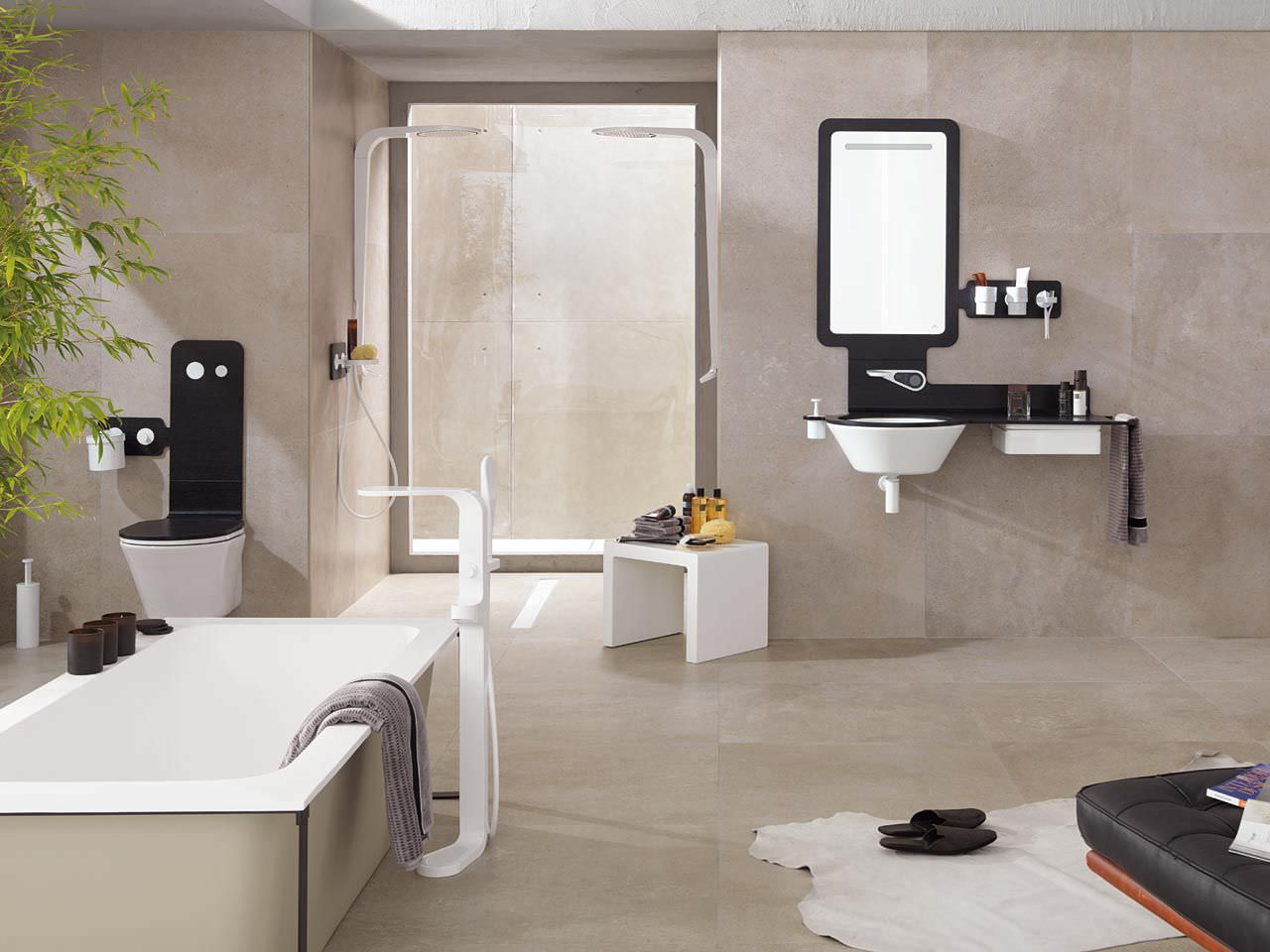 Carrelage salle de bain gris fonce for Carrelage porcelanosa catalogue