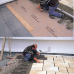 Pose de carrelage exterieur sur chape beton