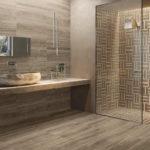 Salle de bain carrelage imitation parquet