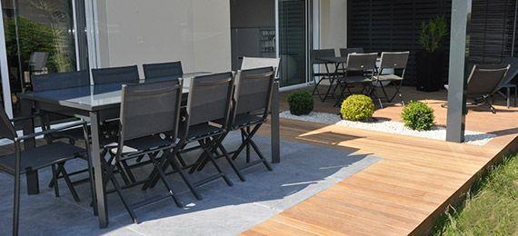 terrasse bois carrelage. Black Bedroom Furniture Sets. Home Design Ideas