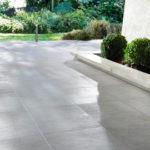 Terrasse carrelage gris